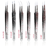 Alluring Ombre Black White w/ Red Speckles Tweezers
