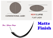 *New Flat Ellipse Lashes C Curl Eyelash Extensions- Matte Finish