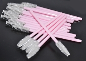 Eyelash Disposable Mascara Wands Brush - Pink Color