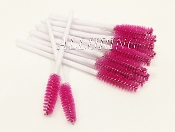 *New Disposable Mascara Wands - Magenta w/ White Handles