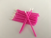 *Disposable Flocked Tip Lip Applicators - Pink