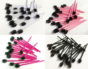 *Eyelash Disposable Mascara Wands with Round Heads