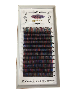Alluring Volume Color Lashes 3D 5D- Blended Multi Colors