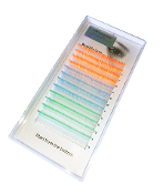 Alluring Volume Color Lashes Neon Orange, Blue & Green Tips