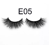 Real Hair Strip Eyelashes Winged / Cat-Eye Style E05